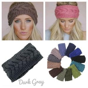 Accessories - Charcoal Gray Knitted Headband